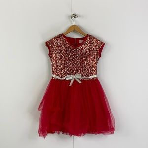 American Girl Sequins Tutu Girls Party Holiday Dress